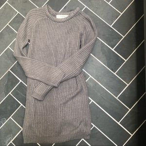 Zara thick knit gray tunic warm sweater medium